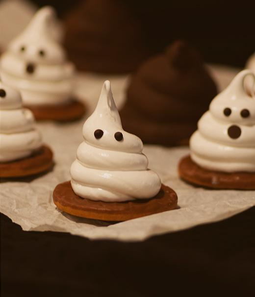 Keks-Geister lecker zu Halloween