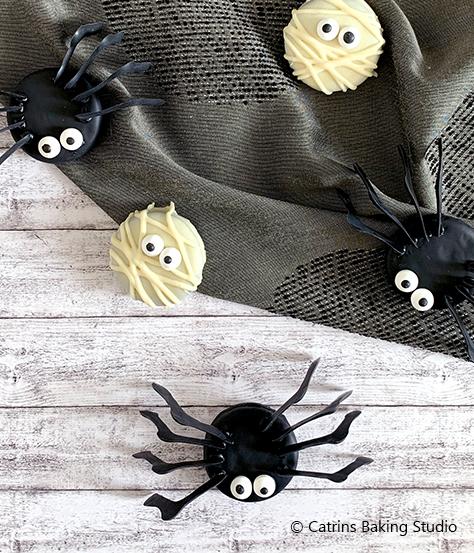 Keksspinnen zu Halloween mit DeBeukelaer und Prinzen Rolle