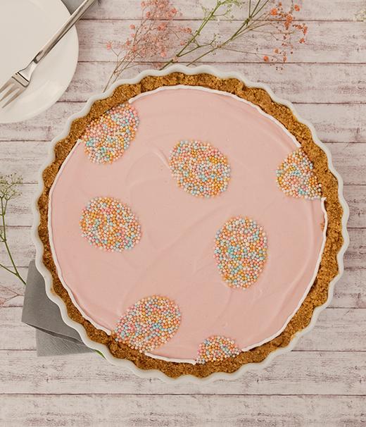 Himbeer-Tarte mit Hafer-Cookies von DeBeukelaer Cereola