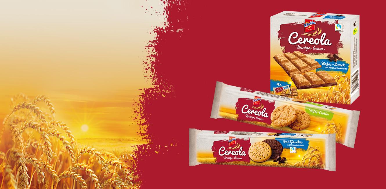 Cereola von DeBeukelaer Hafer-Snack, Hafer-Cookies und Der Klassiker