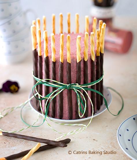 Kuchen zu Ostern für zwei mit Himbeeren und ChocOlé von DeBeukelaer
