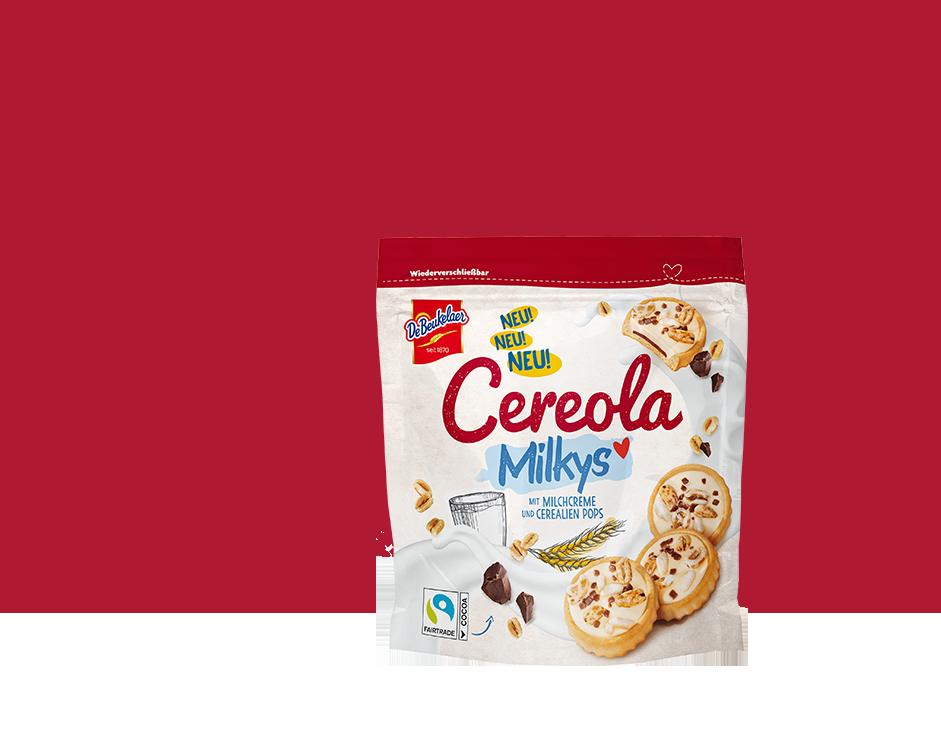 DeBeukelaer Cereola Milkys mit Fairtrade Schokolade