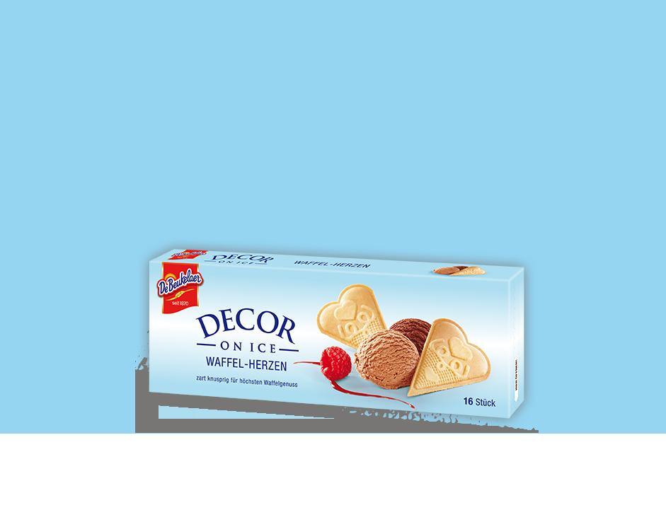 DeBeukelaer DECOR ON ICE Waffel-Herzen