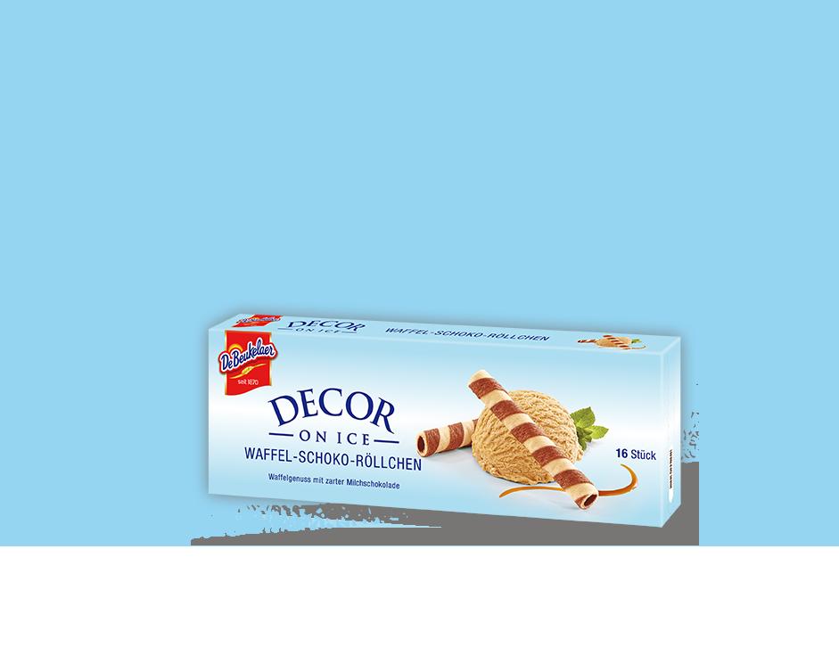 DeBeukelaer DECOR ON ICE Waffel-Schoko-Röllchen